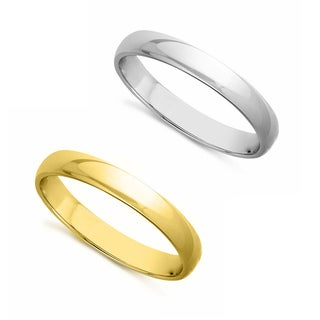 14k Yellow or White Gold Standard Fit Men and Women's 3 mm Wedding Band