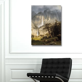 Portfolio Canvas Decor Albert Bierstadt 'Yosemite Falls' Stretched, Wrapped, and Ready-to-hang Canvas Print Wall Art
