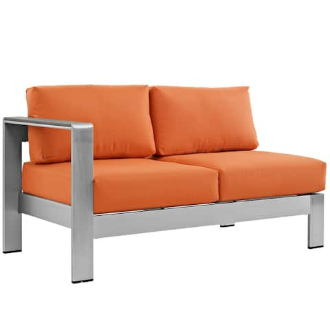 Beach Aluminum Outdoor Patio Left-Arm Loveseat
