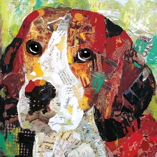 Sandy Doonan 'Art Dog Beagle' Canvas Print Wall Art