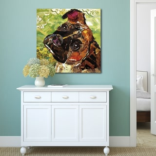 Sandy Doonan 'Art Dog Boxer' Stretched and Wrapped Ready-to-hang Portfolio Decor Canvas Print Wall Art