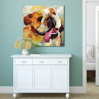 Portfolio Canvas Decor Sandy Doonan 'Art Dog Bulldog' Stretched, Wrapped, & Ready-to-hang Canvas Wall Art