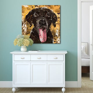 Portfolio Canvas Decor 'Art Dog Chocolate Lab' by Sandy Doonan Wrapped Canvas Ready-to-hang Wall Art Print