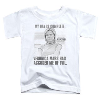 Veronica Mars/Complete Day Short Sleeve Toddler Tee in White