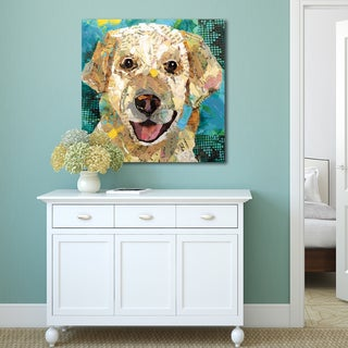 Portfolio Canvas Decor Sandy Doonan 'Art Dog Yellow Lab' Stretched, Wrapped, and Ready-to-hang Canvas Print Wall Art