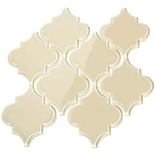 Arabesque Water Jet Tiles - Cream (7.04 Square Feet Per Case)