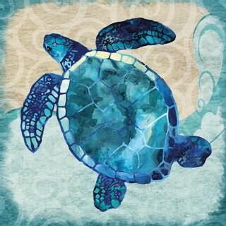 Portfolio Canvas Decor Jill Meyer 'Blues Sea Turtle' Canvas Ready to Hang Wall Art