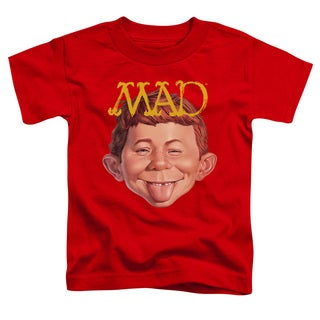 Mad/Absolutely Mad Short Sleeve Toddler Tee in Red