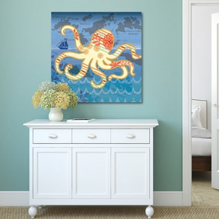 Jennifer Brinley 'Coastal Critters Octopus' Gallery-wrapped Canvas Art Print