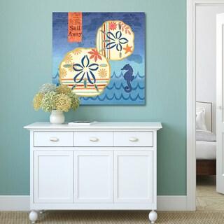 Portfolio Canvas Decor Jennifer Brinley 'Coastal Critters Sanddollars' Canvas Print Wall Art