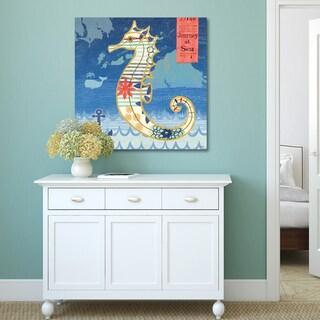 Portfolio Canvas Decor Jennifer Brinley 'Coastal Critters Seahorse' Decor Canvas Print Wall Art