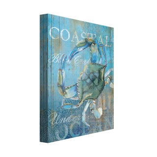 Portfolio Canvas Decor Ali Zoe 'Crab and Sea Crop' Canvas Print Wall Art