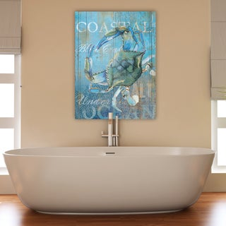 Portfolio Canvas Decor Ali Zoe 'Crab and Sea Crop' Canvas Print Wall Art