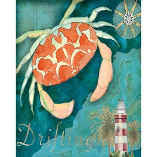 Portfolio Canvas Decor Bradley Clark 'Crab Crop' Gallery-wrapped Canvas Print Wall Art