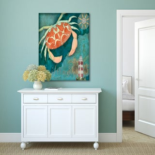 Portfolio Canvas Decor Bradley Clark 'Crab Crop' Gallery-wrapped Canvas Print Wall Art