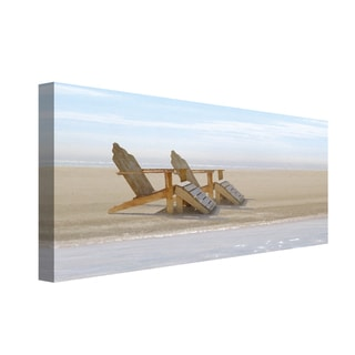 Portfolio Canvas Decor Noah Bay 'Endless Beach' Canvas Stretched and Wrapped Print Wall Art