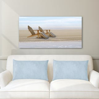 Noah Bay 'Endless Beach' Canvas Stretched and Wrapped Print Wall Art