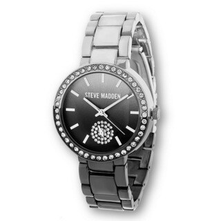 Steve Madden Silver Case and Stone Dial with Alloy Strap Watch