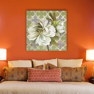 Portfolio Canvas Decor Sandy Doonan 'Flora Pattern I' Stretched and Wrapped Canvas Print Wall Art
