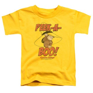 Curious George/Peek A Boo Short Sleeve Toddler Tee in Yellow
