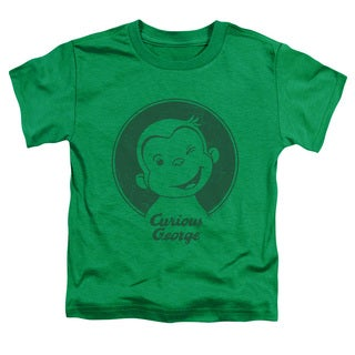 Curious George/Classic Wink Short Sleeve Toddler Tee in Kelly Green