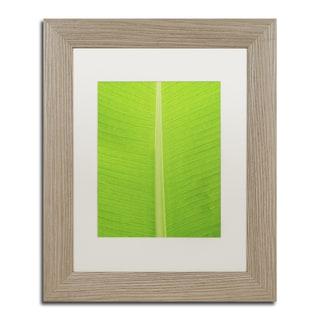 Cora Niele 'Leaf Texture I' Matted Framed Art