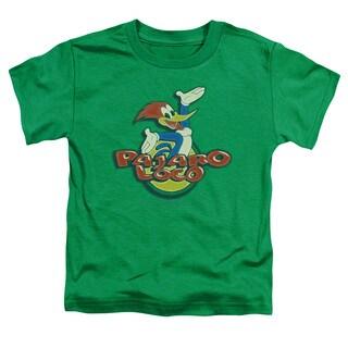 Woody Woodpecker/Loco Short Sleeve Toddler Tee in Kelly Green