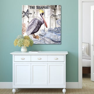 Elena Vladykina 'Harbor Life Pelican I' Canvas Print Wall Art