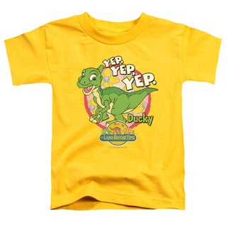 Land Before Time/Ducky Short Sleeve Toddler Tee in Yellow