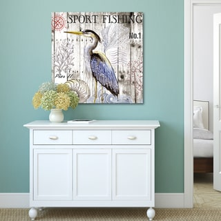 Elena Vladykina 'Harbor Life Heron I' Canvas Print Wall Art