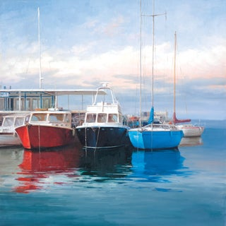 Portfolio Canvas Decor Alex Wang 'Harbor Boats' Stretched & Wrapped Canvas Wall Art