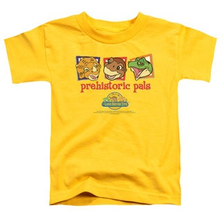 Land Before Time/Prehistoric Pals Short Sleeve Toddler Tee in Yellow