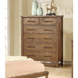 Coaster Company Light Brown Acacia Wood 6-drawer Chest