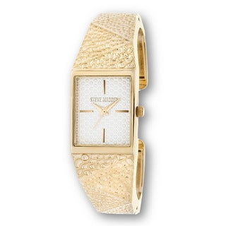 Steve Madden Gold Square Case and Bangle Watch
