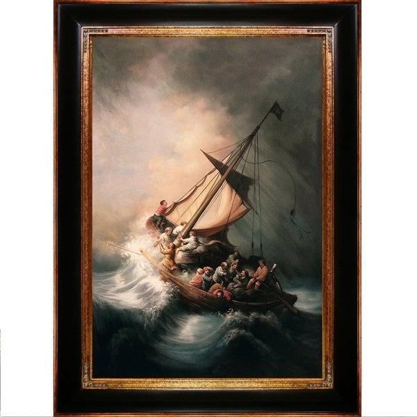 Rembrandt van rijn the storm on the sea of galilee hand painted rembrandt van rijn x27the storm on the sea of galileex27 publicscrutiny Images