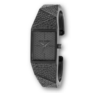 Steve Madden Black Square Case and Bangle Watch