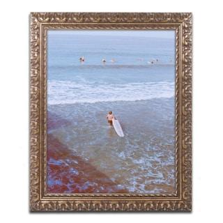 Ariane Moshayedi 'Surfer' Ornate Framed Art