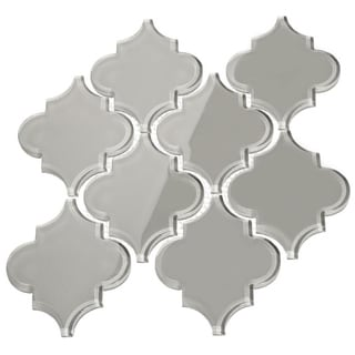 'Light Gray' Arabesque Water Jet Tiles