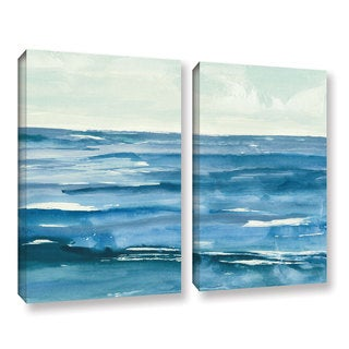 Chris Paschke's 'Seascape III' 2 Piece Gallery Wrapped Canvas Set