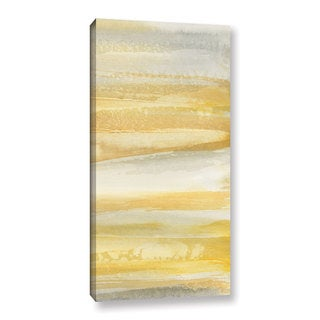 Chris Paschke's 'Grey And Gold III' Gallery Wrapped Canvas