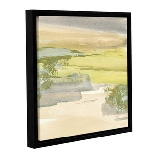 Chris Paschke's 'Grey Stone I' Gallery Wrapped Floater-framed Canvas (4 options available)