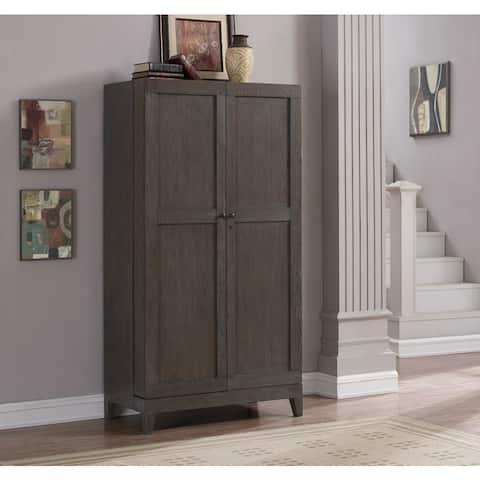Autumn Grey Oak Wine Cabinet