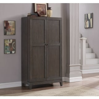 Autumn Grey Oak Wine Cabinet