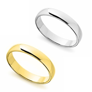 14k Yellow or White Gold Standard Fit Men's and Women's 4-millimeter Wedding Band