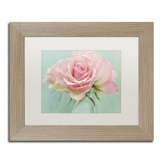 Cora Niele 'Pink Roses' Matted Framed Art