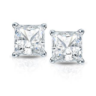 Auriya 14k Gold 3/4ct TDW Princess-Cut Diamond 4-Prong Martini Push-Back Stud Earrings|https://ak1.ostkcdn.com/images/products/12392676/P19213974.jpg?impolicy=medium