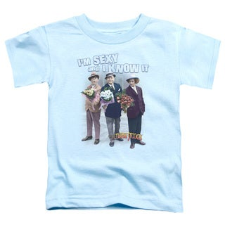 Three Stooges/Sexy Short Sleeve Toddler Tee in Light Blue