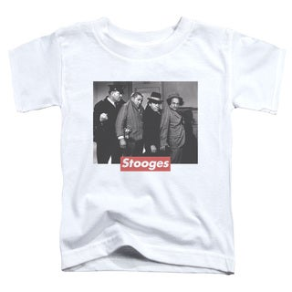 Three Stooges/Supreme Rip Short Sleeve Toddler Tee in White
