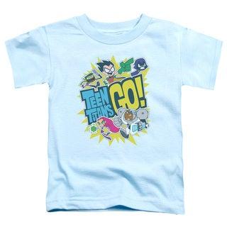Teen Titans Go/Go Short Sleeve Toddler Tee in Light Blue