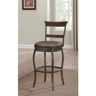 Jacoby 26-inch Brown Bonded Leather Counter Height Stool